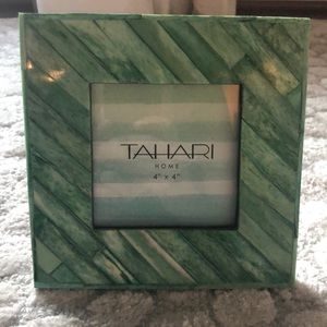 Tahari Home Picture Frame 4x4 Green - New!